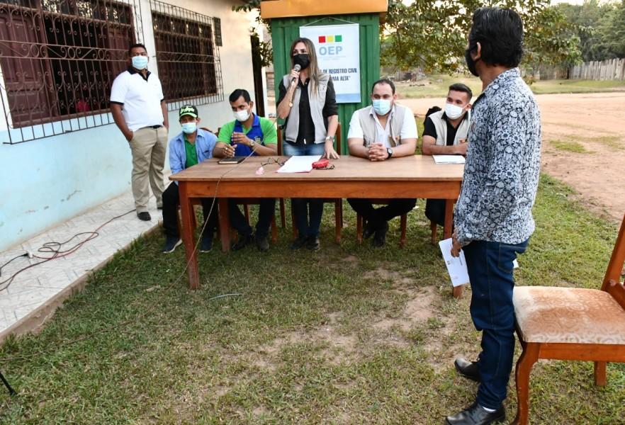 TED Pando y Serecí procedieron a la designación y posesión de ORC en los municipios de Nueva Esperanza y Villa Nueva