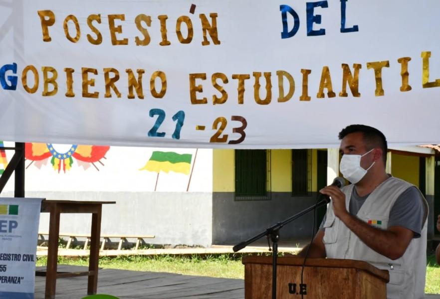 TED Pando entrega credenciales a gobiernos estudiantiles en distritos educativos del área rural